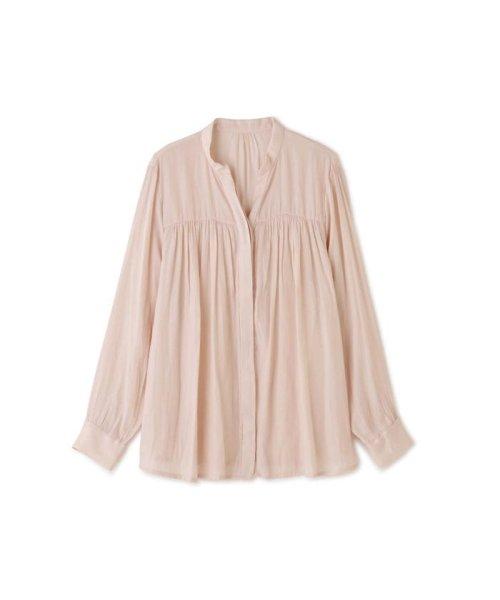 PROPORTION BODY DRESSING(プロポーション ボディドレッシング)/ギャザーサテンシャツブラウス/1219210506