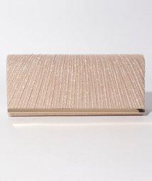 STYLEBLOCK/ラメ素材×フラット金具プリーツパーティークラッチバッグ/501387524
