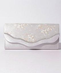 STYLEBLOCK/金糸花柄レースウェーブフラップパーティークラッチバッグ/502480014