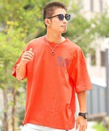 LUXSTYLE/ビッグロゴプリントオーバーサイズ半袖Tシャツ/Tシャツ メンズ 半袖 ロゴ プリント ビッグシルエット/502533700