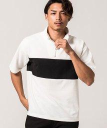 VICCI/VICCI【ビッチ】ハーフジップ切替スタンドカラー半袖ポロシャツ/502533973