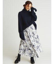Mila Owen/デザインヘムウエストシャーリングスカート/502534084
