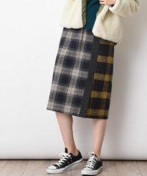 actuelselect/【basque】ツイードチェック切替スカート/502534165