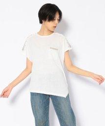 AVIREX/刺繍アシメントリーTシャツ/ASYMMENTRY T-SHIRT/502535053