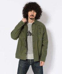 Schott/FATIGUE SHIRT CAPTAIN SKULL/ファティーグシャツ キャプテンスカル/502535055