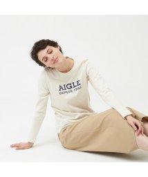 AIGLE/吸水速乾 AIGLEロゴ 長袖Tシャツ/502535094