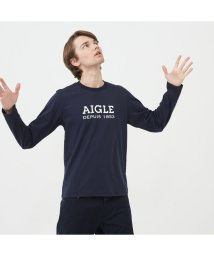 AIGLE MEN/吸水速乾 AIGLEロゴ 長袖Tシャツ/502535098