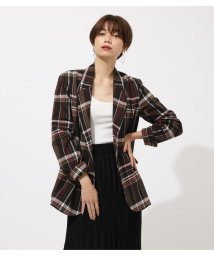 AZUL by moussy/CHECK TAILORED JACKET/502535578
