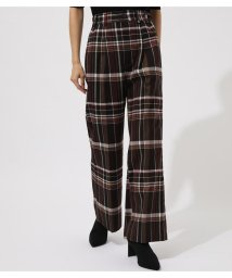 AZUL by moussy/CHECK SEMI FLARE PANTS/502535579