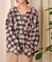 w closet/起毛ネルチェックシャツ/502537404