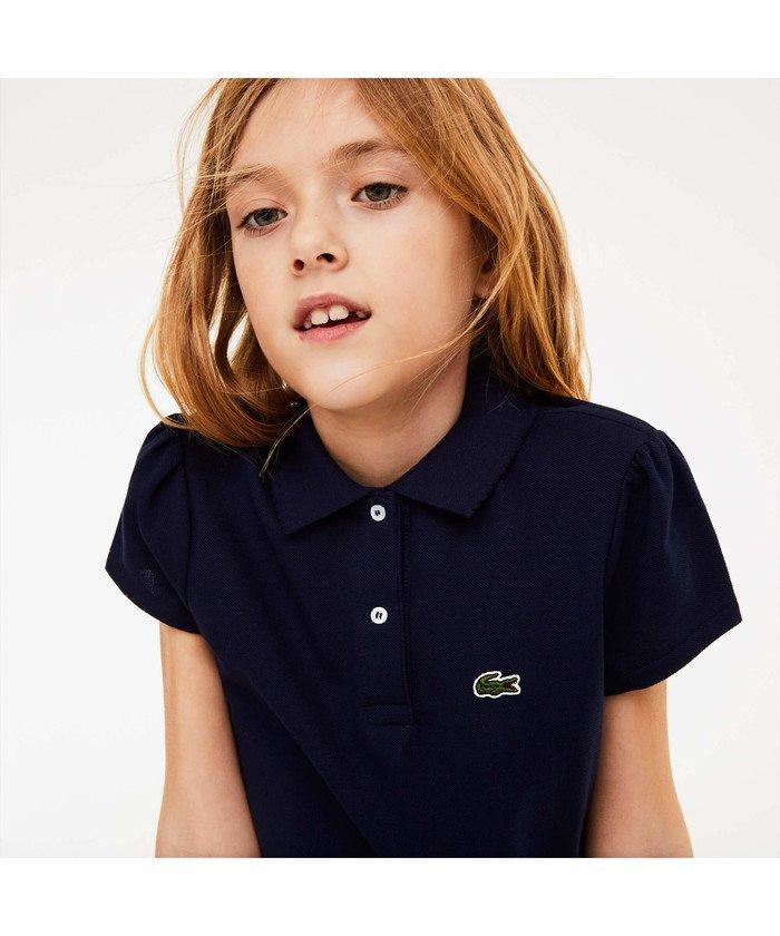 GIRLS スカラップカラー ミニピケポロシャツ