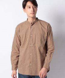 KOE/ドロップ バンドカラーブロードチェックシャツ/502526402