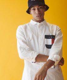 TOMMY JEANS/フラッグロゴポケットシャツ/502527530