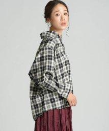 socolla/【socolla】ドルマンネルチェックシャツ/502530301