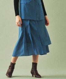 TOMORROWLAND collection/ウールポリエステル アシンメトリープリーツスカート/502538181