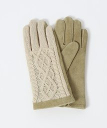 coen/レザー×ニットコンビグローブ(手袋)/502538320