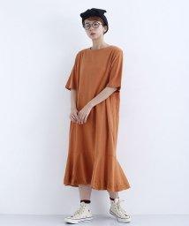 merlot/裾刺繍デザイン半袖ワンピース/502541721