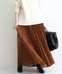 IENA/レオパードフラワーレースプリーツスカート/502541851