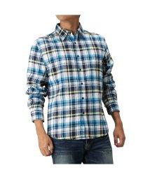 MAC HOUSE(men)/Navy ネイビー フランネルシャツ チェック レギュラーシャツ NG195-MF021/502543048