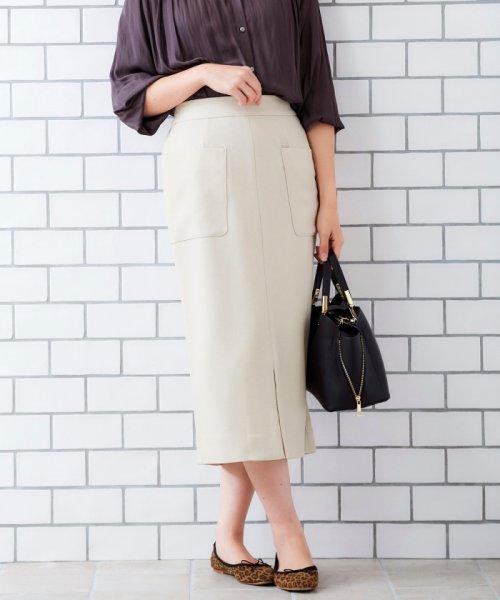 le.coeur blanc(ルクールブラン)/ポケットツキイージータイトスカート/3096044914
