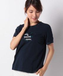 Leilian/【MUSE BY ROCHAS Premiere】ロゴ刺繍Tシャツ/502460783