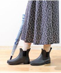 Lirio blanco/サイドゴアショートレインブーツ レインブーツ レインシューズ レディース サイドゴア ローヒール 3cmヒール ワイド設計 オールシーズン 撥水 完全防水 長靴/502514639