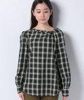 SISLEY/スモックチェックシャツ・ブラウス/502518000