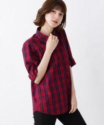 SHOO・LA・RUE/【WEB限定サイズ・04(LL)あり/手洗い可】コットンチェックシャツ/502543274
