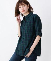 SHOO・LA・RUE/コットンチェックシャツ/502543274
