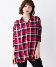 SHOO・LA・RUE/【M-L/2点セット】裾ねじりスキッパーシャツ+タンクトップ/502543672