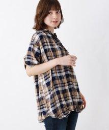 SHOO・LA・RUE/【WEB限定サイズ・05(3L)あり/2点セット/】裾ねじりスキッパーシャツ+タンクトップ/502543672