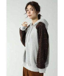 ROSE BUD/LACE SLEEVE HOODED SWEAT/502545036