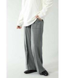 ROSE BUD/WOOL SIDE LINE WIDE PANTS/502545046