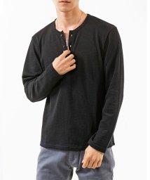 TopIsm/ワッフル素材ヘンリーネック長袖カットソーTシャツ/502545167