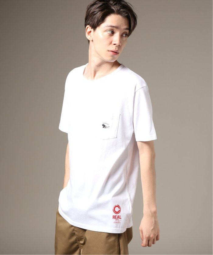 Cloveru×relume / 別注  EMBROIDERY RAT−ポケットTシャツ