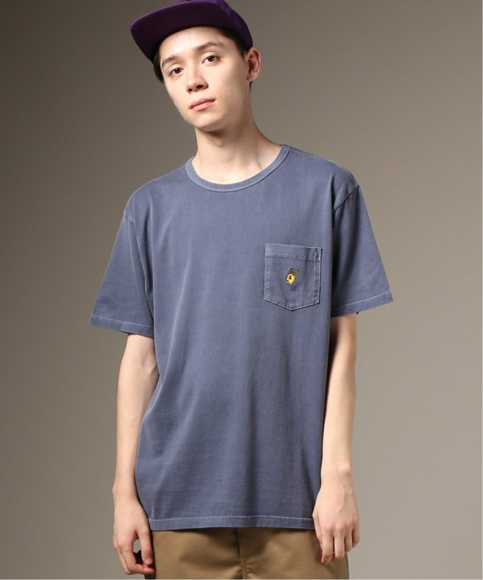 Cloveru×relume / 別注 EMBROIDERY BUNNY−ポケットTシャツ