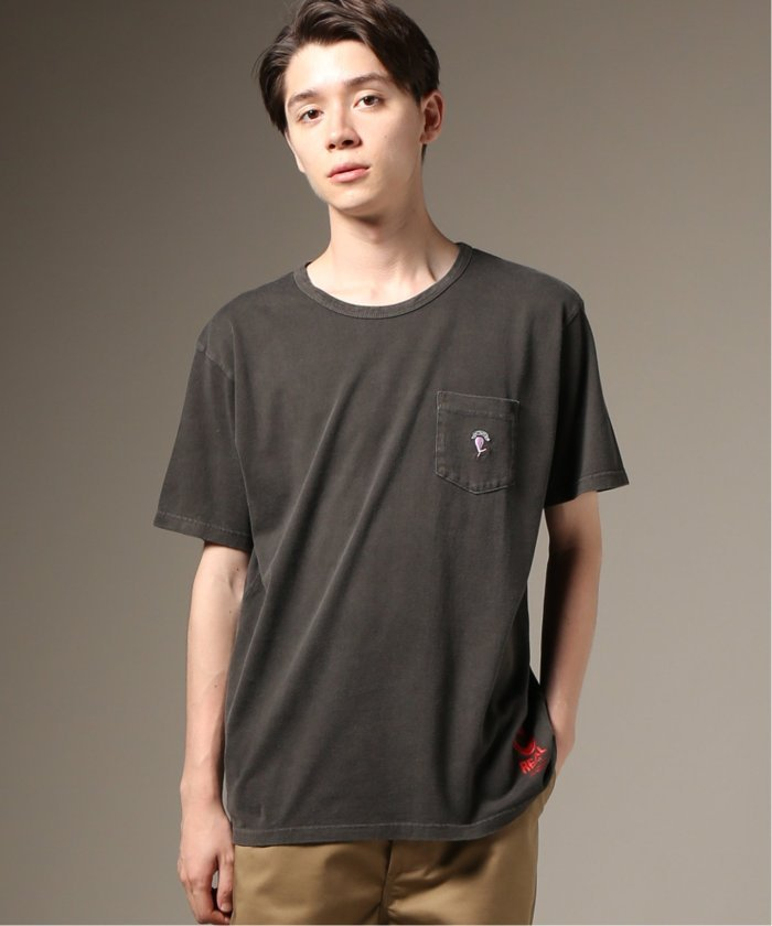 Cloveru×relume / 別注  EMBROIDERY WOMAN−ポケットTシャツ