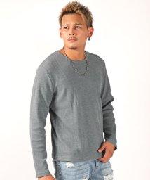 LUXSTYLE/ワッフル長袖Tシャツ/ロンT メンズ 長袖 Tシャツ ワッフル/502545921