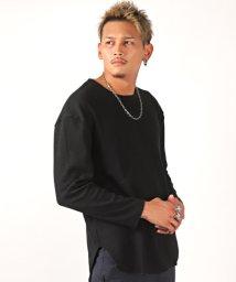 LUXSTYLE/ラウンドヘムワッフルロンT/ロンT メンズ 長袖Tシャツ ワッフル サーマル/502545923