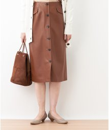 CARA O CRUZ/合成皮革のタイトスカート/502505755