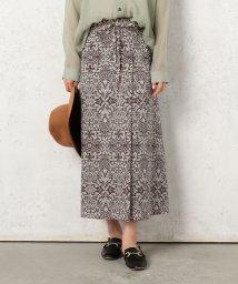 Cheek/レトロ柄共リボンラップ風スカート/502521942