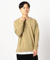 GLOSTER/12Gテンセラックレイヤードニット Tシャツ付/502532551