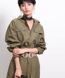 ROPE' mademoiselle/【セットアップ対応】ツイルシャンブレーステッチシャツ/502547117
