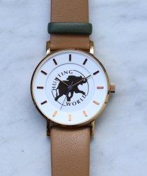 HIROB Ladys/Hunting World ロゴ ウォッチ ライトブラウン/502548917