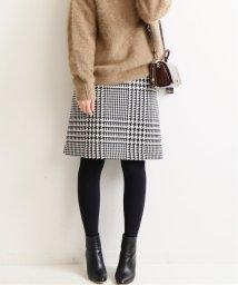 IENA/《予約》ロービングチェック台形スカート◆/502551137