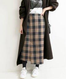 IENA/《予約》ウールチェックアシンメトリースカート◆/502551138