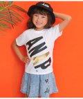 ANAP KIDS/斜めロゴプリントTシャツ/502442848
