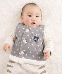 e-baby/星ジャガード+ボアクマワッペンベスト/502487859