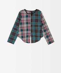 SISLEY YOUNG/アシンメトリーチェック切り替えシャツ・ブラウス/502539296