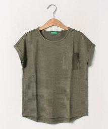 BENETTON (UNITED COLORS OF BENETTON GIRLS)/ラメボーダーポケット半袖Tシャツ・カットソー/502539544